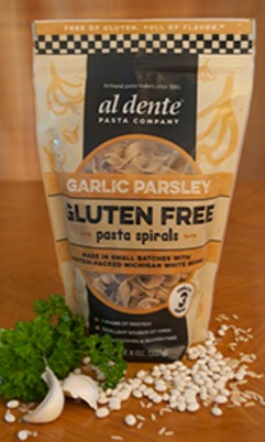 Al Dente Gluten Free Garlic Parsley Pasta Spirals